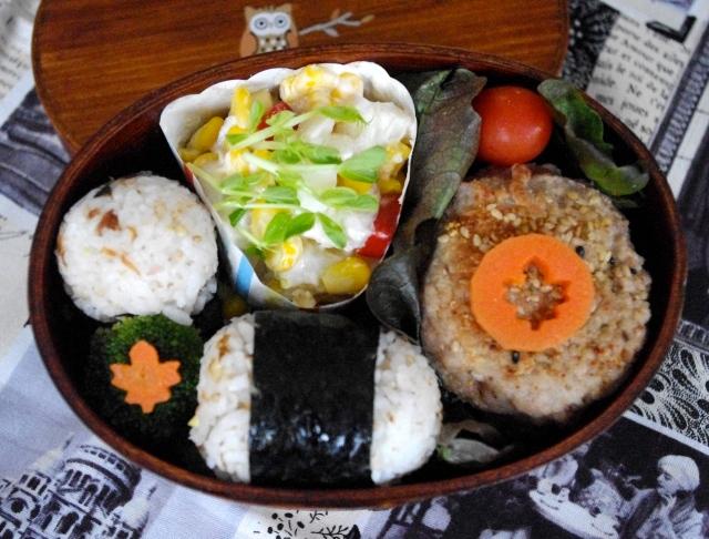 furikake onigiri bento