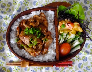 hoisin pork bento